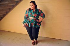 Ethnic chic, african prints, Demestiks, plus size ethnic print