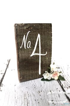love these table numbers!