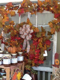 Fall wreath with chevron bow