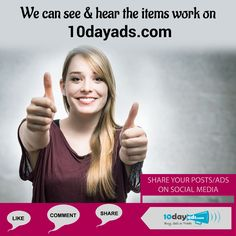 We can see & hear the items work on 10dayads.com #FreeAdWebsites #FreeAdvertisingOnline
