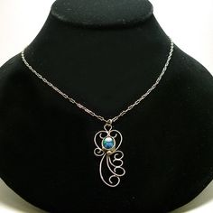 Sterling Silver Opal Triplet Filigree Necklace by SocialDeviance... This is so cool!!!!!!!