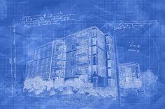 Condominium Building Construction Blueprint Design Royalty Free Images, Royalty Free Stock Photos, Web Creation, Modern Condo, Pixel Image, Photomontage, Condominium, Image Photography, Stock Pictures