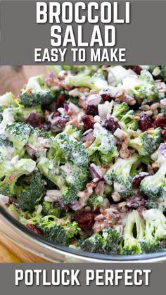 Brocolli Salad, Best Broccoli Salad Recipe, Easy Broccoli Salad, Broccoli Cauliflower Salad, Best Salad Recipes, Fresh Broccoli, Summer Salad Recipes, Broccoli Recipes, Healthy Recipes