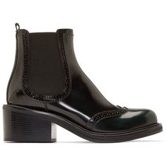 Costume National Black Leather Ankle Boots (1,110 CAD) ❤ liked on Polyvore featuring shoes, boots, ankle booties, black chelsea boots, black leather bootie, ankle boots, black leather booties and black ankle booties