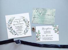 Probe++Hochzeit+Einladung+Suite++Aquarell+von+encrestudio+auf+Etsy