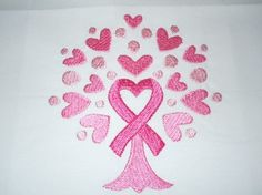 Stitched Design - Quilting Cancer Awareness Symbols for the Fight  SMALL 4 x 4