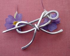 Bow Shawl Pin / Scarf Pin / Hair Pin or Brooch - Light Weight Aluminum Wire.  I need thousands of these.