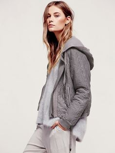 Free People Quilted Riptide Hoodie at Free People Clothing Boutique