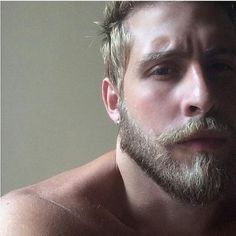"You just need the ""correct blonde beard"" – nothing more. In this guide you will find best blonde beard styles. Scruffy Men, Hairy Men, Bearded Men, Beards And Mustaches, Moustaches, Great Beards, Blonde Guys, Blonde Beards, Handsome Faces"