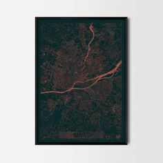 Nantes city posters - Art posters and prints of your favorite city. Unique design of a map. Perfect for your house and office or as a gift for friend.