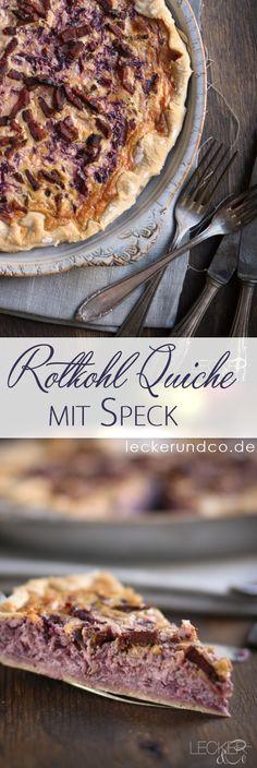 Rotkohlquiche mit Speck