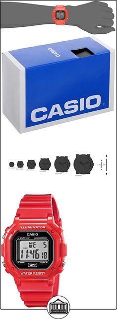 Casio F-108WHC-4ACF Mens Red Chronograph Watch  ✿ Relojes para hombre - (Gama media/alta) ✿