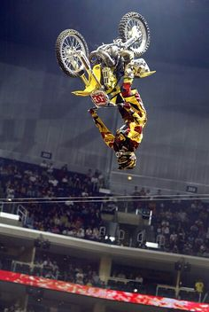 Travis Pastrana- what he is known for. not afraid of nothing.