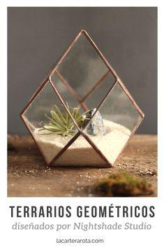Terrarios geométricos para decorar Decor Ideas, Studio, Design, Home Decor, Small Gardens, Decorations, Recipes, Flowers, Hipster Stuff