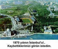 """Bir tek İnönü'nün yeşili hala yeşil.. Diğer taraflar """"Yamyamlar"""" tarafından yenilmiş.. Vadim o kadar yeşildi ki.. Ne yaptınız bu İstanbul'a.. 1970 yılı.."""