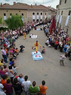 """Since 1620, the residents of Spain have taken part in an unusual custom called El Colacho, that is, """"baby jumping.""""  infants are laid on mattresses in the street after crowds gather to watch. Jumpers who wear costumes to look like the Devil then proceed to leap over these mattresses.  - http://www.travelsupermarket.com/blog/the-five-most-unusual-culture-customs-from-around-the-world/"""