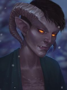it was a friend's birthday so i drew her tiefling bard tiefling Fantasy Character Design, Character Concept, Character Art, Concept Art, Character Ideas, Fantasy Portraits, Character Portraits, Fantasy Artwork, Fantasy Races