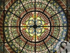 Centre Dome of the Leaded Glass Bistro Ceiling by Solarium Design Group Ltd, via Flickr