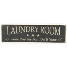 Laundry Room Distressed Country Rustic Sign Black: Home