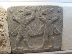 A Hittite relief of two bird headed gods, Museum of Anatolian Civilizations, Ankara