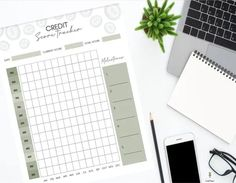 Have bad credit and a very low credit score? Goal Paper Credit Score Tracker Printable will help you keep track of your forever changing credit score by month. Use this debt tracker to repair your credit yourself today.