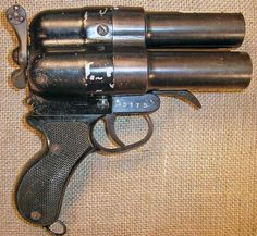 Japanese Type 90 Triple Barrel Flare Pistol-Third Variation.