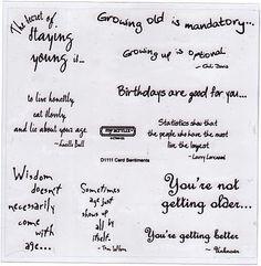 Card Sentiments