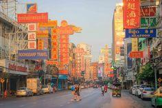 Bangkok Chinatown Buddha Tempel, Bangkok, Times Square, Travel, Chinese Buildings, Tours, Tips, Viajes, Destinations