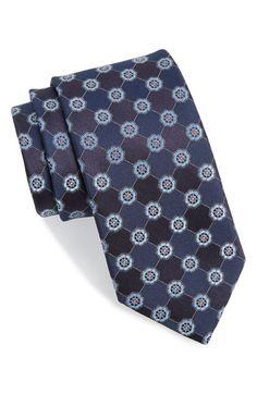 Men's John W. Nordstrom 'Perez' Floral Medallion Silk Tie