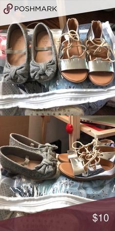 Zara baby girl shoes size 4 . 10$ each Gently used , my mini me has so much more clothes than her mommy so getting to wear things are really hard . Perfect for your mini me's come summer Zara Shoes Dress Shoes