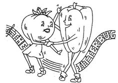 Hand Embroidery Pattern 3132 Anthropomorphic Dancing Vegetables 40s