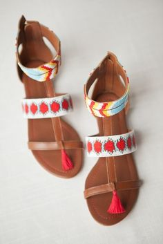 India Hicks /  Beaded Sandal with pompom