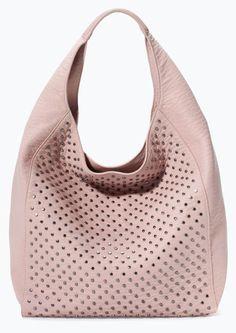 Ooh, great studded hobo bag at Zara.