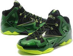 82cfbb6fa0db Find Discount Nike Lebron Xi Mens Green Black online or in Footlocker. Shop  Top Brands and the latest styles Discount Nike Lebron Xi Mens Green Black  at ...