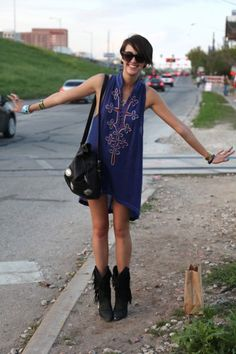 Jane Anne Duddleston, Ballet Dancer    This Austinite knows exactly where to find the goods in her hometown. She's sporting a music fest-ready Free People dress and shoes from Laced with Romance Vintage in Austin.