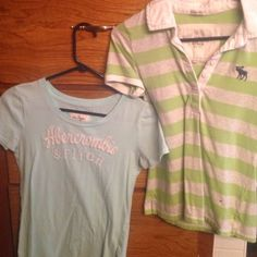 Abercrombie/American Eagle shirts The polo is a medium, the very last tye-dye is a extra small, and the rest are smalls. American Eagle Outfitters Tops Tees - Short Sleeve