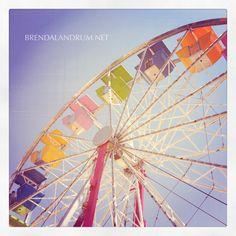 Ferris Wheel at the Firestone 4th of July carnival, photographed by Brenda Landrum.  www.brendalandrum.net