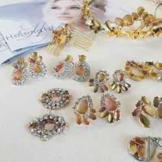 helenanoellecouture A little sneak peek before these new designs are plated in rose gold....xoxo
