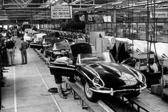 Jaguar XK-E production line
