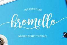bromello typeface by alit design on @creativemarket. Price $12 #scriptfonts #handwrittenfonts