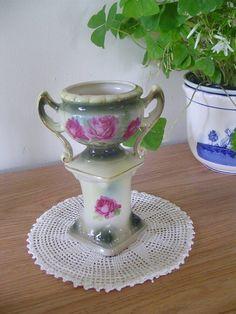 Austria Rose Pedestal Vase   Brilliant Colored by Ednascloset, $28.78