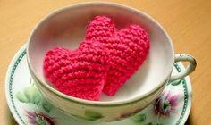 Aprende cómo hacer corazones de crochet