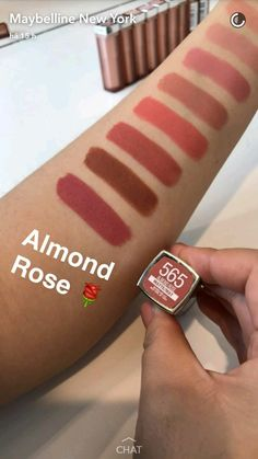Maybelline nude colors - almond rose