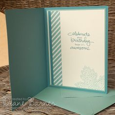 Inside View Of Handmade Birthday Card By Di Barnes On Her Blog Colourmehappy