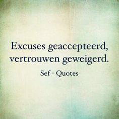 Excuses geaccepteerd, vertrouwen geweigerd - Sef