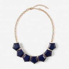 Navy Geometric Gem Necklace | Urban Peach Boutique