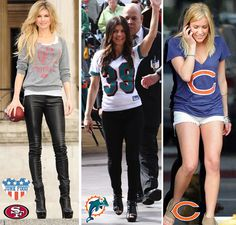 Celebrity ladies showing their NFL love!  www.junkfoodclothing.com