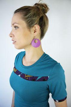 T-Shirts uni Rundhals - Shirt petrol - ein Designerstück von JAQUEEN-handmade-streetwear-berlin bei DaWanda