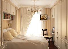 Фотография: Спальня в стиле Скандинавский, Современный, Малогабаритная квартира, Интерьер комнат, увеличение пространства, дизайнерские приёмы для расширения пространства, дизайн маленькой спальни – фото на InMyRoom.ru