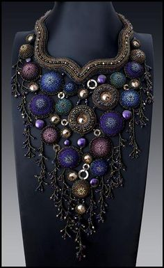"Seed Bead Jewelry, 3rd place - ""Carousel of time"" by Betty Stephan (New York), $100 gift certificate"
